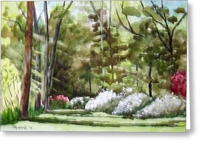 Azalea Garden Greeting Card by Bob Herbert