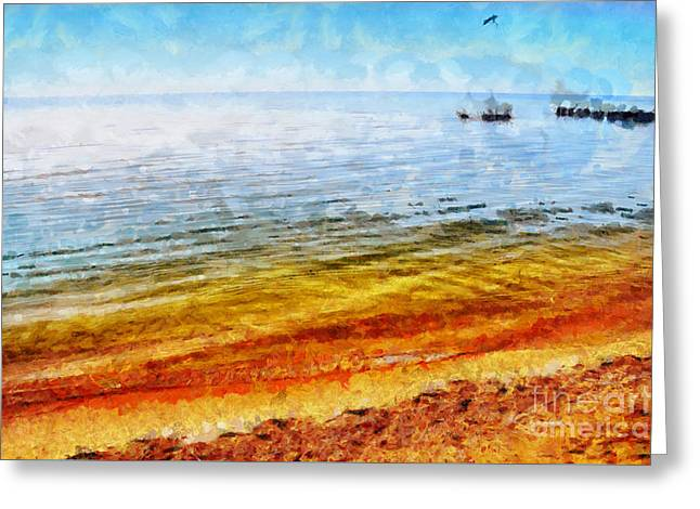 Azov Sea Greeting Card by Magomed Magomedagaev