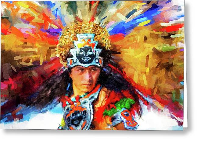 Aztec Dancer Greeting Card