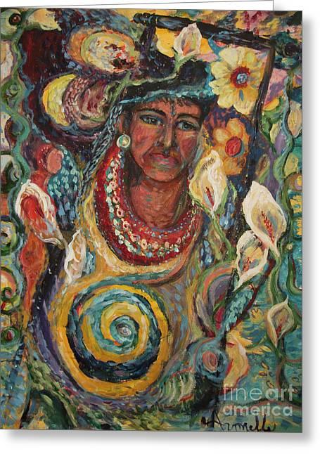 Aztec Garden Greeting Card