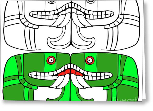 Aztec Goddess Of Earth  Greeting Card