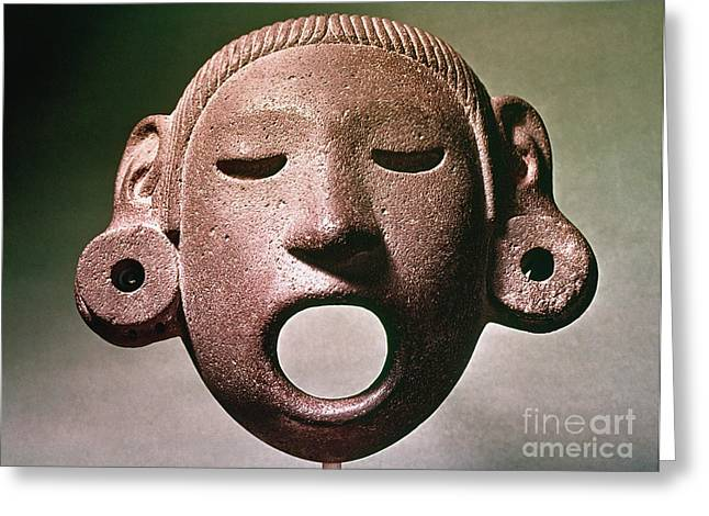 Aztec Mask: Xipe Totec Greeting Card