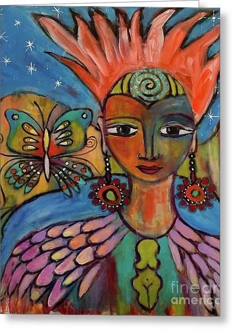 Aztec Princess Greeting Card