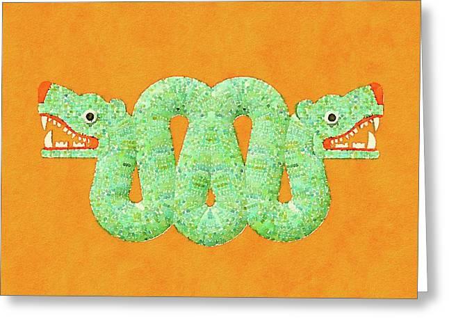 Aztec Serpent Greeting Card