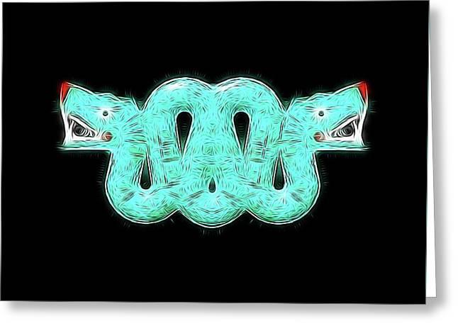 Aztec Snake By Raphael Terra Greeting Card