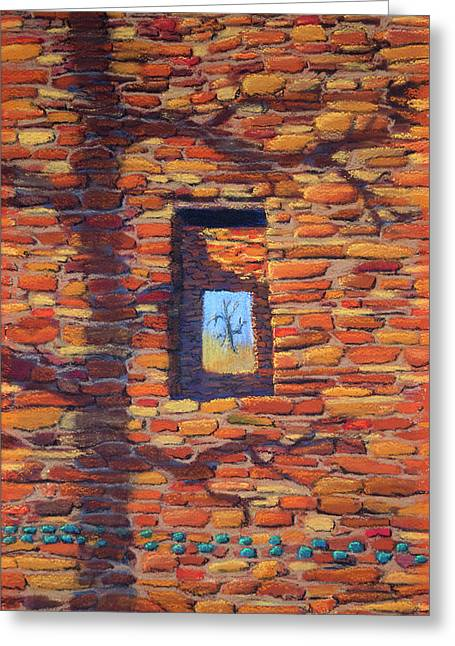 Aztec Vista Greeting Card by Jerry McElroy