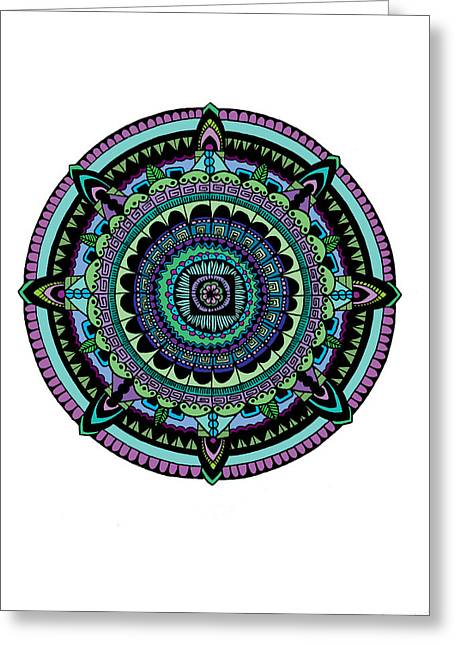 Azteca Greeting Card by Elizabeth Davis