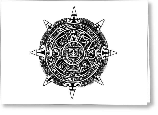 Aztecs Calendar Greeting Card