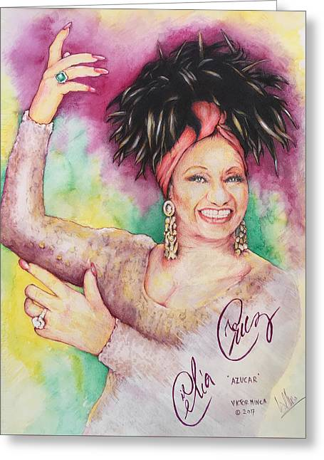 Azucar Celia Cruz Greeting Card