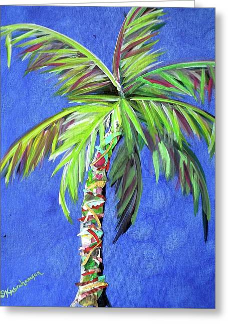Azul Palm Greeting Card