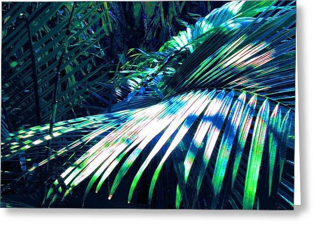 Azul Shimmer Greeting Card by Scott K Wimer