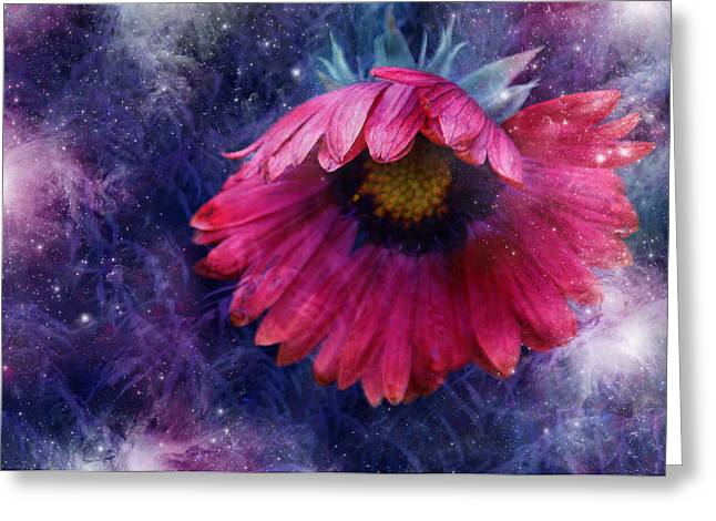 Greeting Card featuring the photograph Azure Claret by Kathleen Stephens