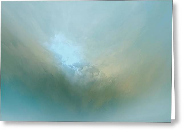 Azure Mist Greeting Card