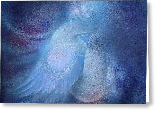 Greeting Card featuring the painting Azure by Ragen Mendenhall