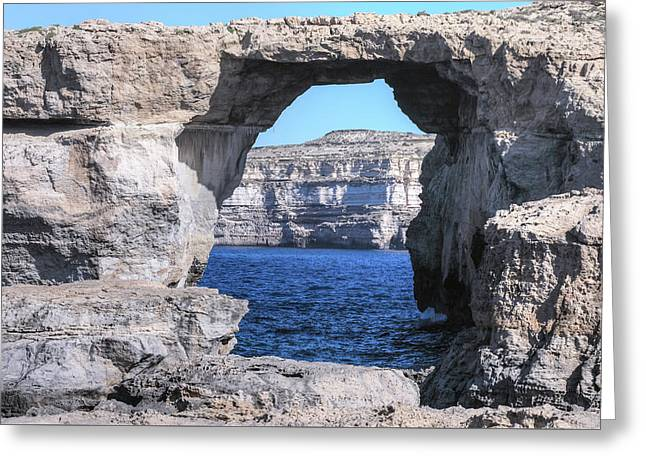 Azure Window - Gozo Greeting Card