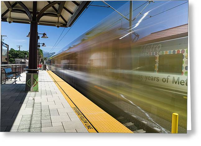 Azusa Downtown Metro Station Greeting Card by Mike Herdering