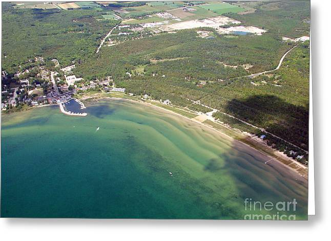 Greeting Card featuring the photograph B-012 Baileys Harbor Wisconsin Ridges by Bill Lang