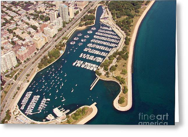 Greeting Card featuring the photograph B-020 Belmont Harbor Chicago Illinois by Bill Lang