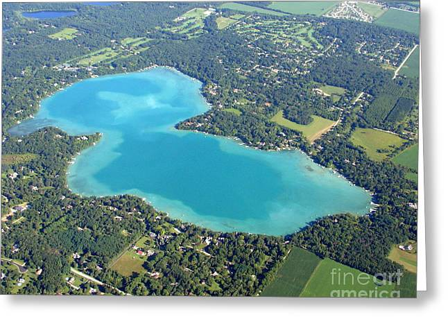 Greeting Card featuring the photograph B-021 Beaver Lake Waukesha County Wisconsin by Bill Lang