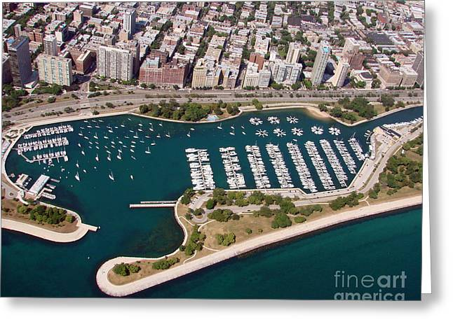 Greeting Card featuring the photograph B-023 Belmont Harbor 2 Chicago Illinois by Bill Lang