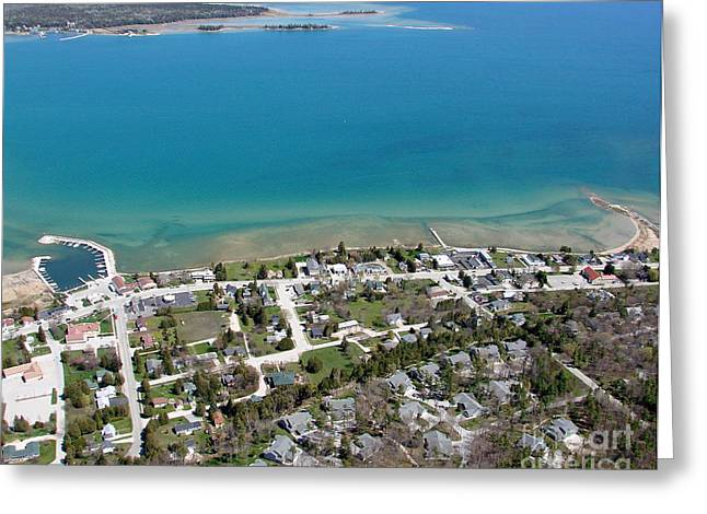 Greeting Card featuring the photograph B-024 Baileys Harbor Town Wisconsin by Bill Lang