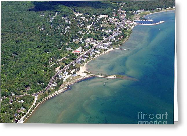 Greeting Card featuring the photograph B-025 Baileys Harbor South Shoreline Wisconsin by Bill Lang