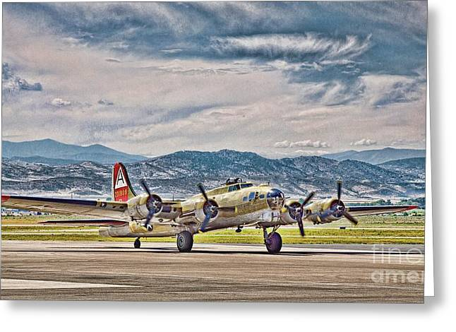 B-17 After A Rough Flight Greeting Card
