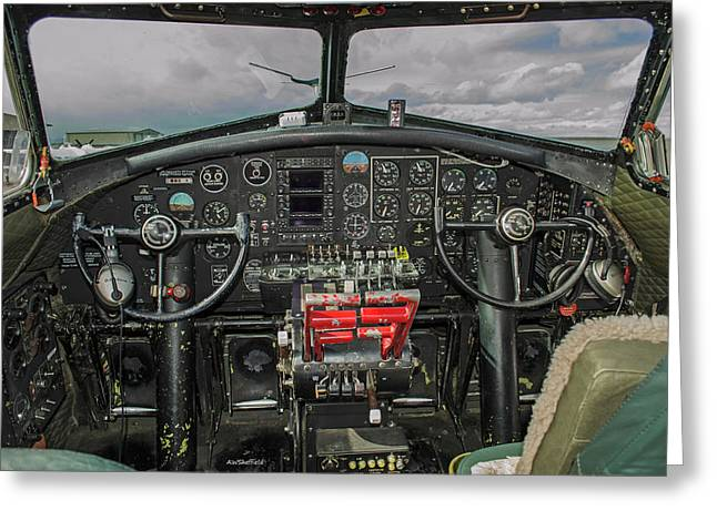 B-17 Cockpit Greeting Card