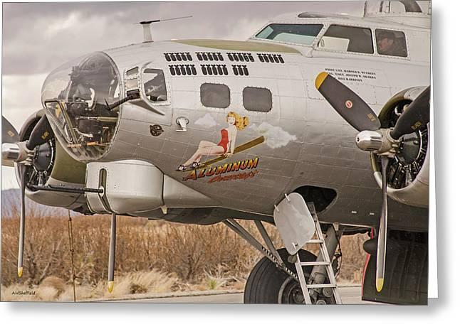 B-17 Nose Art Greeting Card