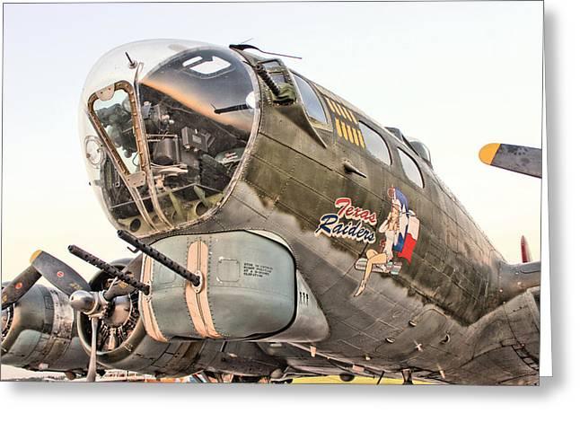 B-17 Texas Raiders Greeting Card by Michael Daniels