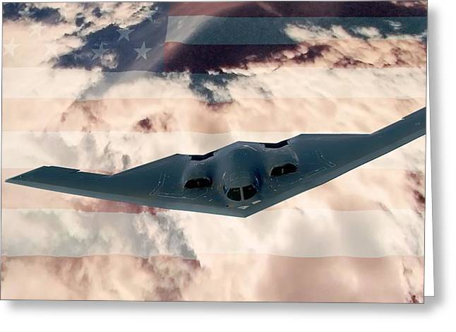 B-2  Respect Greeting Card by Kevin  Sherf