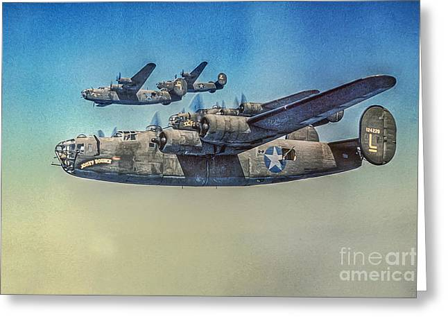 B-24 Liberator Bomber Greeting Card