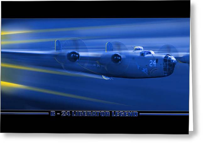 B-24 Liberator Legend Greeting Card by Mike McGlothlen