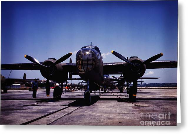 B-25 Bombers Greeting Card by Celestial Images
