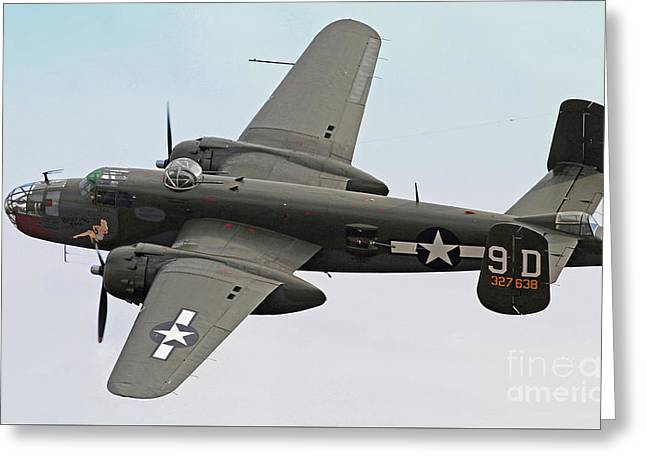 B-25 Mitchell Bomber Aircraft Greeting Card