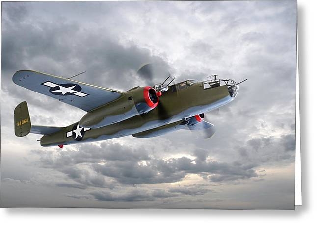 B-25 Mitchell Bomber Greeting Card