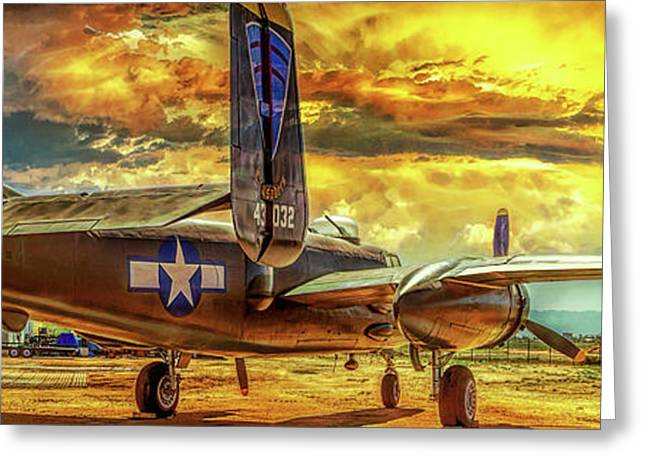 B-25 Mitchell Bomber Greeting Card by Steve Benefiel