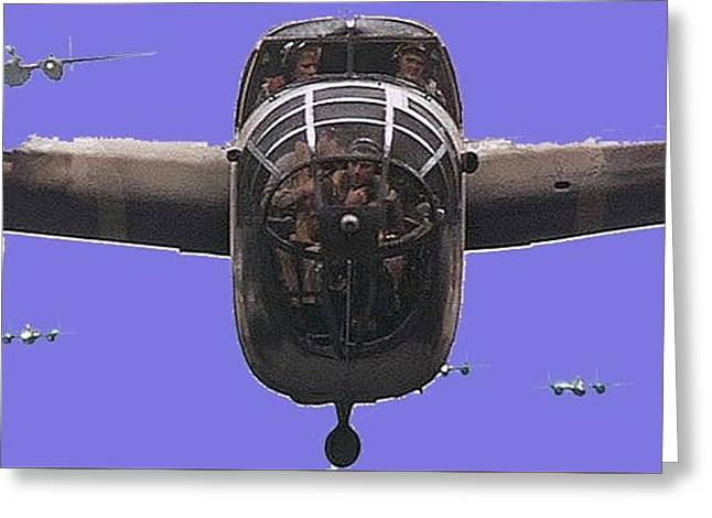 B 25s In Formation  Publicity Photo Catch 22 Guaymas Mexico 1970 Color Added 2016 Greeting Card by David Lee Guss