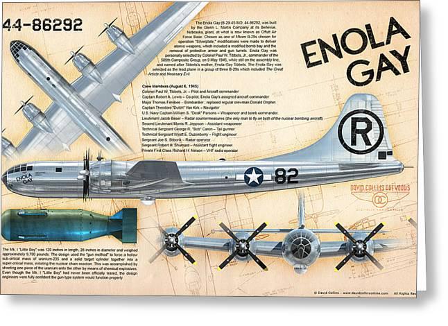 B-29 Enola Gay  Greeting Card by David Collins