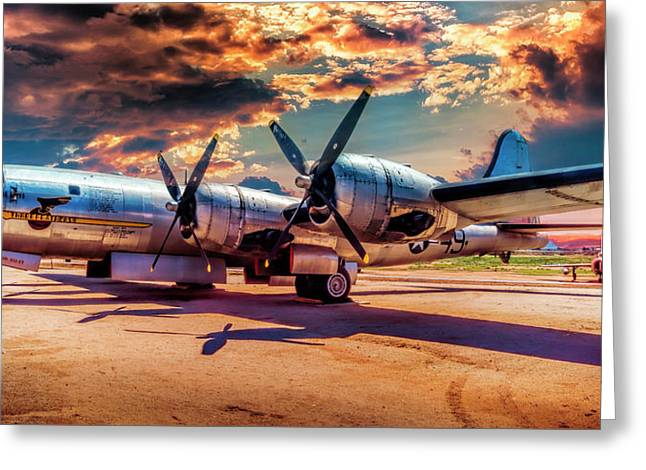 Greeting Card featuring the photograph B-29 by Steve Benefiel