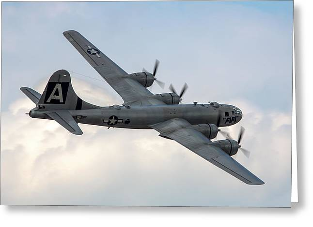 B-29 Superfortress Greeting Card by Bill Lindsay