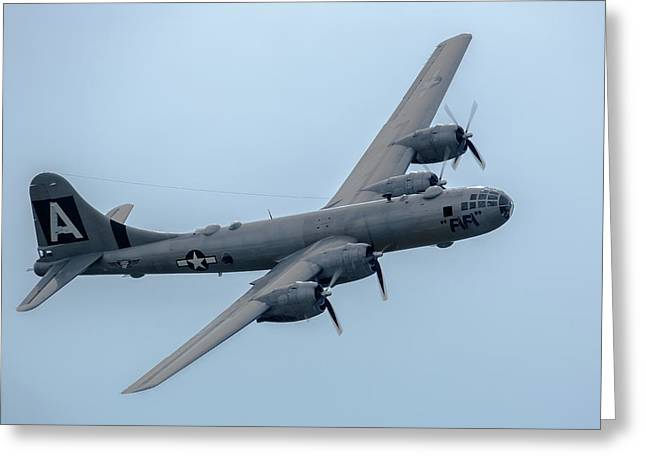 Airshow Greeting Cards - B-29 Superfortress FIFI Greeting Card by Bill Lindsay