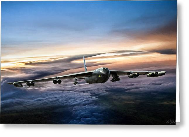B-52 Inbound Greeting Card by Peter Chilelli