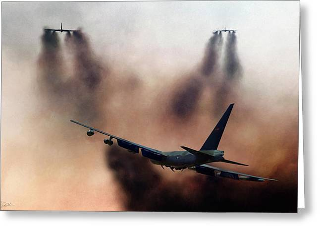 B-52d Mito Greeting Card by Peter Chilelli