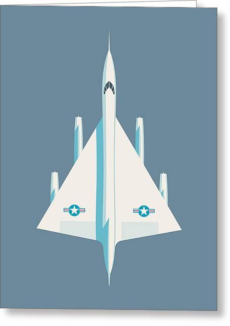 B-58 Hustler Supersonic Jet Bomber - Slate Greeting Card