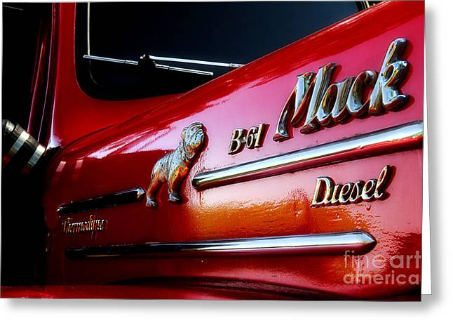 B 61 Mack Truck Greeting Card