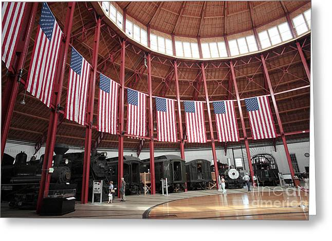 B And O Museum Roundhouse In Baltimore Maryland Greeting Card