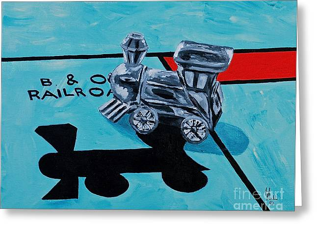 Monopoly Greeting Cards - B and O Railroad  Greeting Card by Herschel Fall