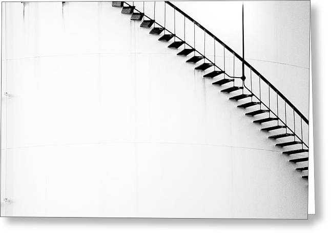 B And W Stairs Greeting Card