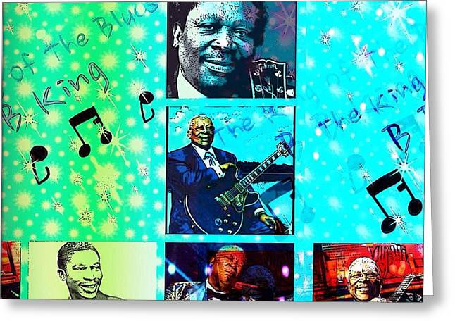 B B King Of The Blues  Greeting Card